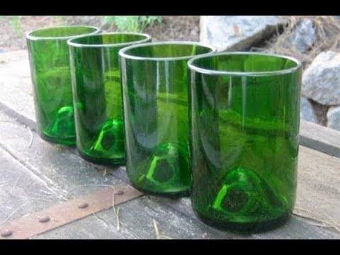 Как сделать из стеклянной бутылки сделать вазу своими руками