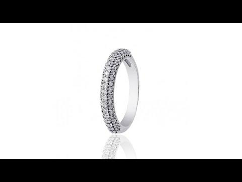 Золотое кольцо с бриллиантами Бриллиантовая россыпь, КД7422/1