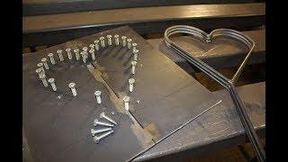 Ein Herz biegen mit Biegevorrichtung - Herz aus Metall selber machen