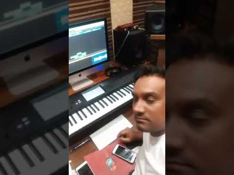 Master saleem making his new song in his studio