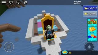 Roblox boat building and treasure hunt crass boat part1