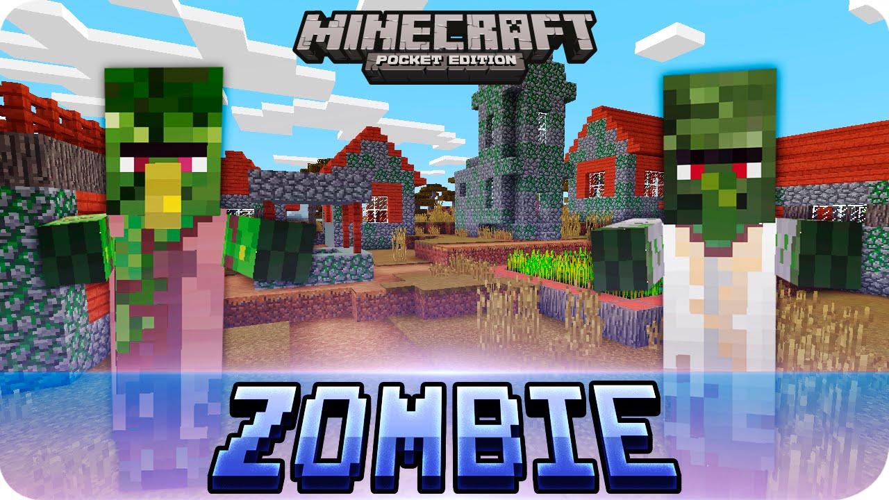 Minecraft PE Seeds - Zombie Village & Jungle Temple Seed - 9.9 / 9.9 MCPE