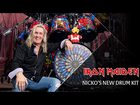 Iron Maiden - Nicko's 2018 Drum Kit