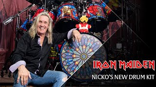 iron maiden nickos 2018 drum kit
