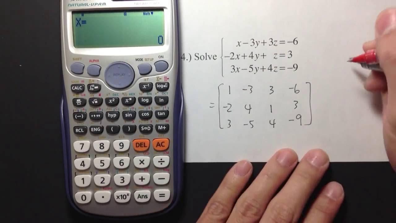 Casio Fx 115es Plus Q24 Check With Calculator Youtube