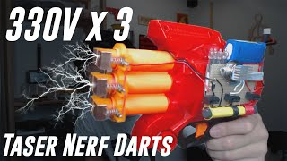 Taser Nerf Darts Part II (vs human flesh)