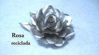 # DIY Como hacer una rosa con latas de refresco # DIY How to make a rose with soda cans