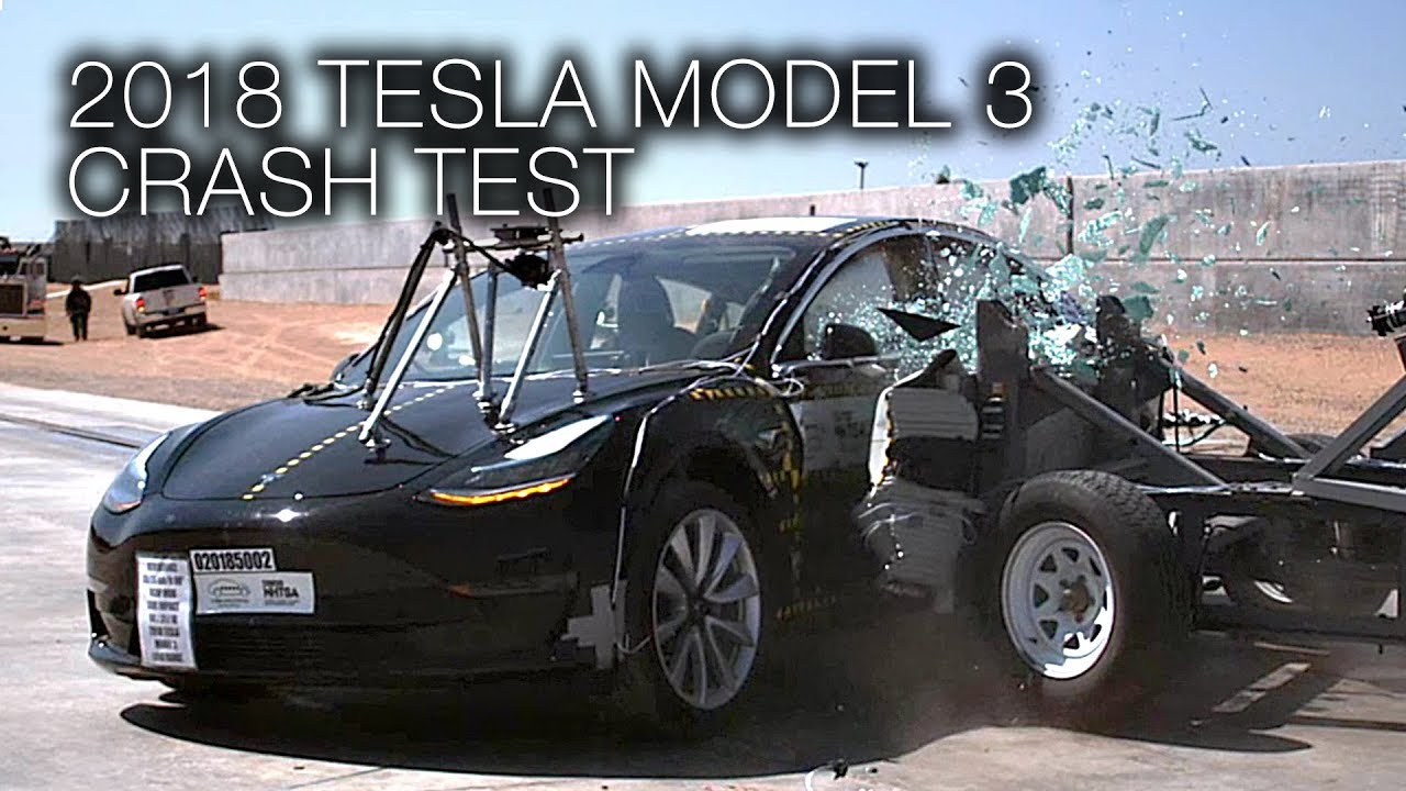 tesla model 3 2018 side crash test youtube. Black Bedroom Furniture Sets. Home Design Ideas