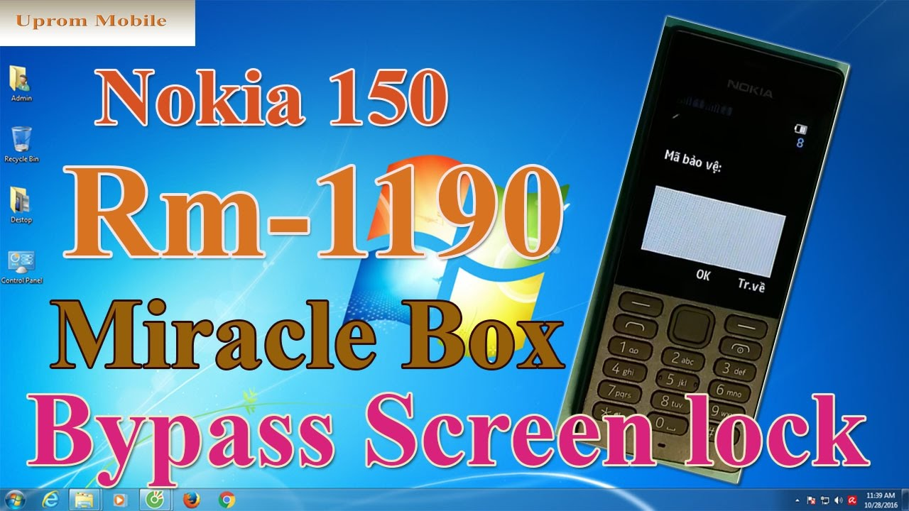 Format full factory Nokia 150 RM-1190 bypass screen lock code by Miracle  box ok