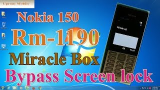 Format full factory Nokia 150 RM-1190 bypass screen lock code by Miracle box ok.