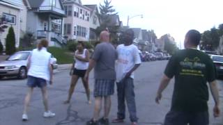 A Drunk White Lady  pissed on herself and got whooped by a black girl!!