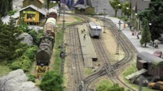 HO scale Model Trains layout *Model trains in action* hobbyfair 2017