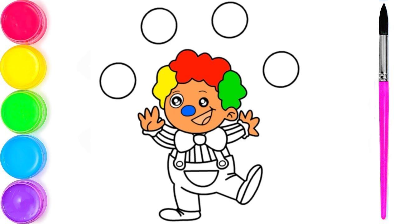 Клоун веселая Раскраска для малыша | Рисование и раскраски ...