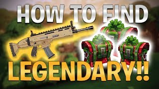 HOW TO FIND LEGENDARY LOOT to WIN EVERY Game! (Fortnite: Battle Royale! Easter Eggs, Tips/Tricks)