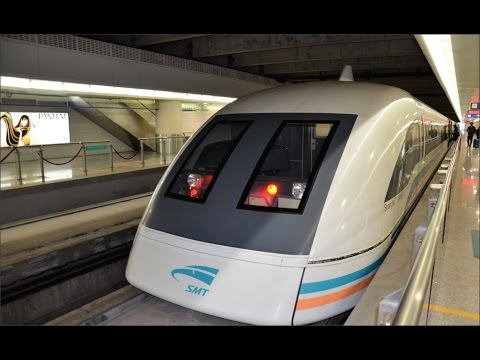 Shanghai Maglev from PVG Airport to Longyang Road 上海磁悬浮