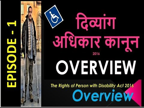 दिव्यांग कानून 2016 Overview | Overview of RPWD Act, 2016 | By Barrier Free World