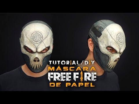 Máscara Rey Calavera Free Fire Con Papel / Tutorial / DIY / ¿Cómo Se Hace?