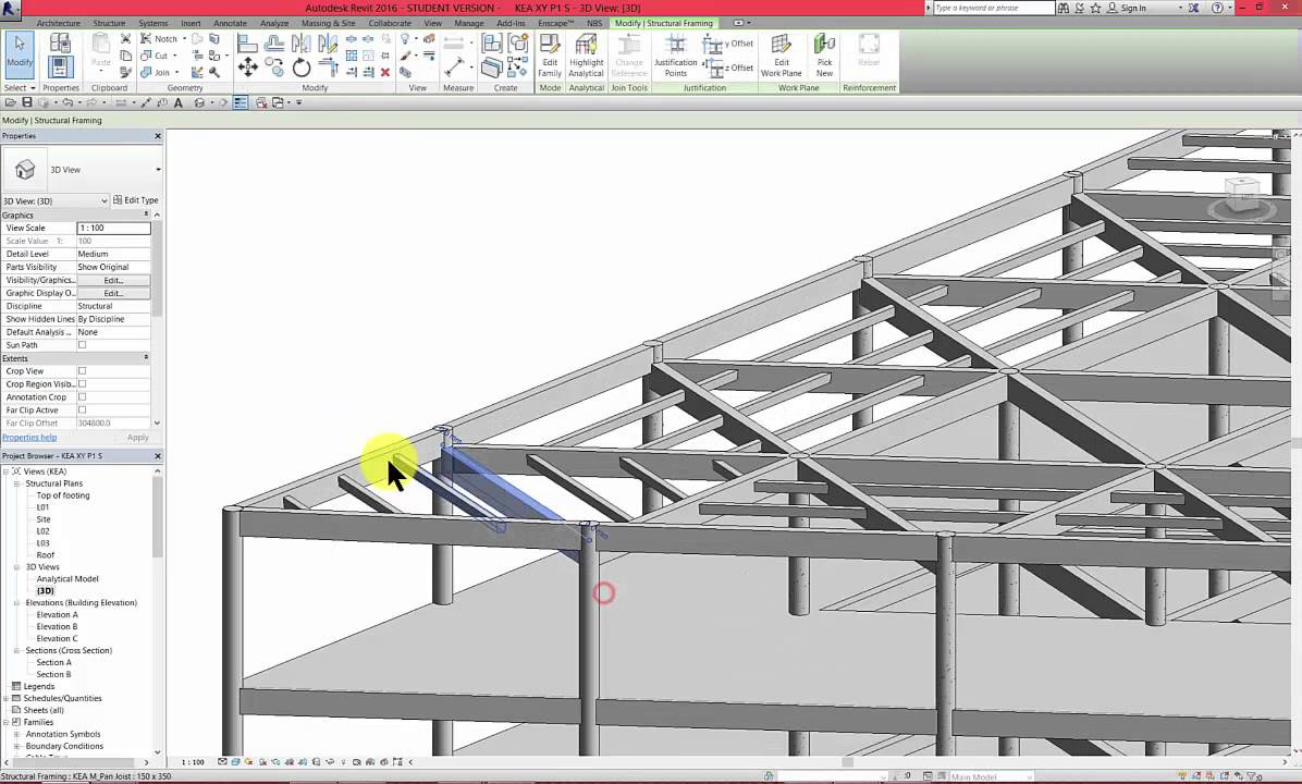 Revit p1 part 13 concrete building sloped roof