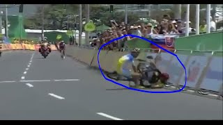 Original Video : Moment Iranian Para cyclist Crashing and Dies in Rio paralympics 2016