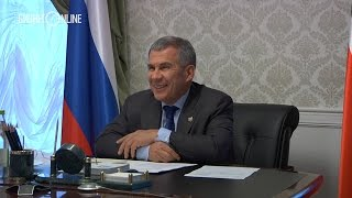 Минниханов поручил Маганову купить микроавтобус для многодетной семьи сотрудника 'Татнефти'