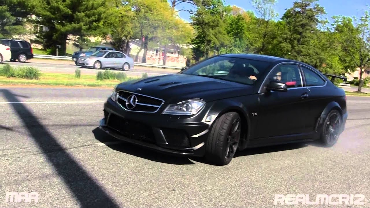 Mercedes Benz C63 Amg Black Series Wipeout Loses Control