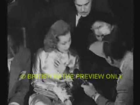 Brief Interview clips of Alan Ladd Virginia Mayo Jean Simmons John Mills 1946