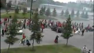 russian massive gang brawl in the projects   YouTube