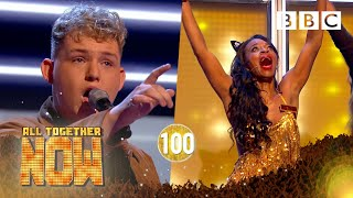 HE GOT 100! Michael Rice knocks Tina Turner hit 'Proud Mary' out the park! | BBC All Together Now 🎤