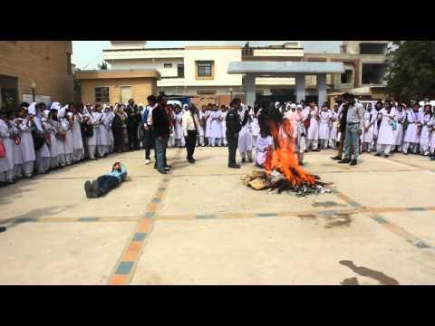 Pakistan Helpline Fire & Safety Event in Girls College Johar Karachi (Clip 2)