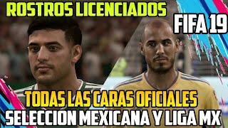Rostros Oficiales de la Selección Mexicana y LIGA MX FIFA 19 - Caras Licenciadas Mexicanos y LIGA MX