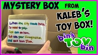 Mystery Surprise Box From Kaleb's Toy Box! Unboxing By Bin's Toy Bin