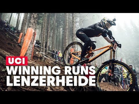 Winning DH Runs From Lenzerheide | UCI MTB World Cup 2019