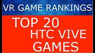 VR Game Rankings - HTC Vive Top 20 Games (September/October)