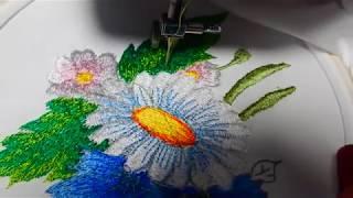 Вышивка гладью ОльгаРомнюк Machine embroidery