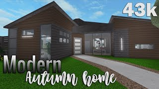 ROBLOX || Bloxburg: Modern autumn home 43k