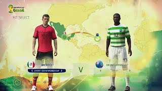 2014 fifa world cup brazil: concacaf kits & ratings (full hd gameplay)