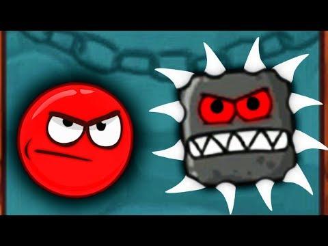 Red Ball КРАСНЫЙ ШАР против ЗУБАСТЫХ КВАДРАТОВ Мультяшная игра КРАСНЫЙ ШАРИК в ПОДЗЕМЕЛЬЕ
