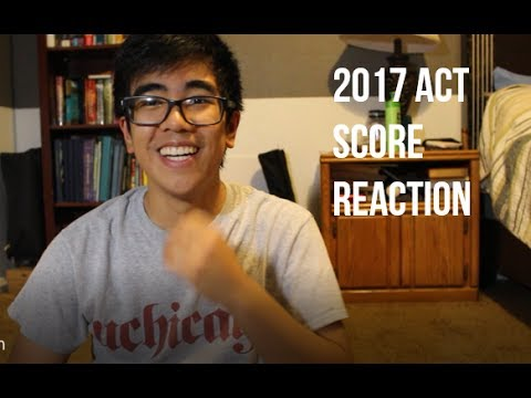 2017 ACT SCORE REACTION (Perfect Score...?)