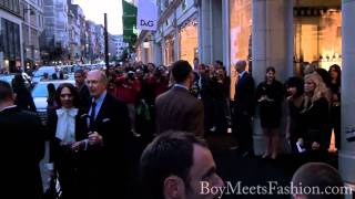 Celebrities attend London's Emporio Armani store for Vogue's Fashion Night Out 2010