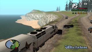 Gta San Andreas -  train on street & highway - Android and PC