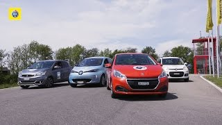Test comparatif de petites voitures: Renault Zoe , Mitsubishi Space Star, Peugeot 208, Fiat Panda