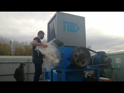 Моющая дробилка PZO-800 DLS. Видео 2