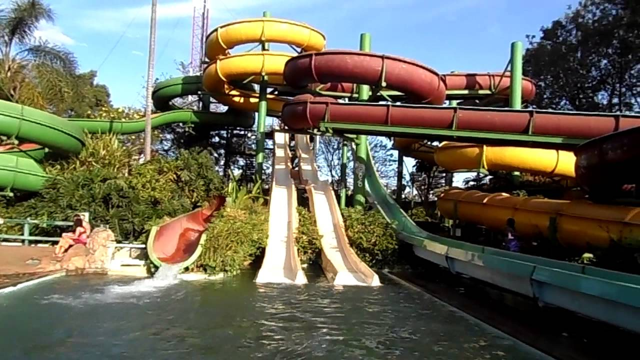 Race down the double water slide at village market youtube - Swimming pool industry statistics ...