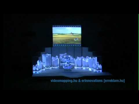 INDOOR EVENT 3D MAPPING ESSILOR IN  MARRIOTT HOTEL VIDEOMAPPING HUNGARY