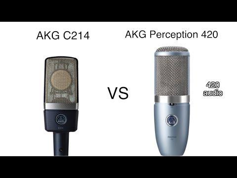 AKG C214 vs AKG Perception 420 Review and Test