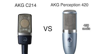 AKG C214 vs AKG Perception 420 Review and Test
