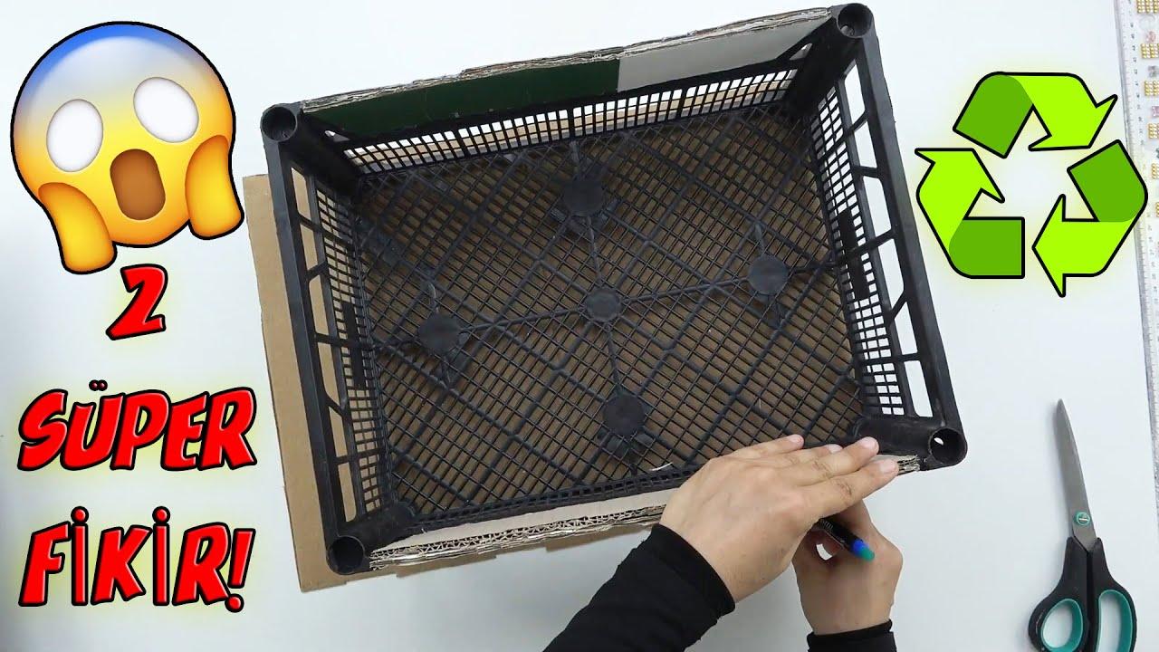 PLASTİK SEBZE KASASI İLE MUHTEŞEM 2 FARKLI GERİ DÖNÜŞÜM! / Recycle / DIY / Idea / Best Out Of Waste