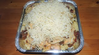 """MONSTER Chili Cheese Fries """"Taco Chips"""" Challenge!!"""