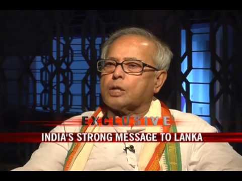 Pranab Mukherjee on the Lanka crisis