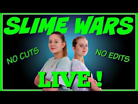 SLIME WARS LIVE || NO CUTS NO EDITS || Taylor and Vanessa